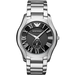 Emporio Armani 時空交會時尚腕錶-黑/43mm
