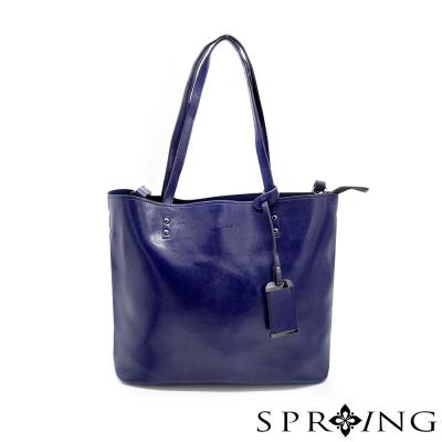 SPRING-優雅生活托特包-寶石藍