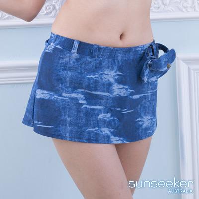 澳洲Sunseeker泳裝配品仿牛仔A字泳裙-牛仔藍