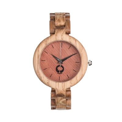 Plantwear 手工木製手錶 Glamour 咖啡棕-橡木/35mm