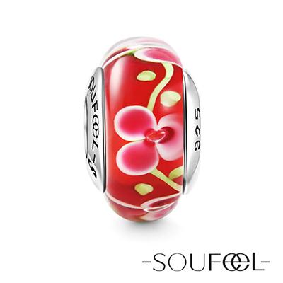 SOUFEEL索菲爾 925純銀珠飾 臘梅 琉璃珠