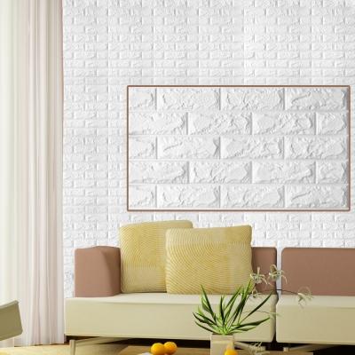 3D立體泡棉磚紋壁貼六片(70X77CM)