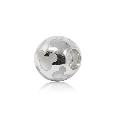 Pandora 潘朵拉 迪士尼系列 圓形珍珠母石米奇造型 純銀墜飾 串珠