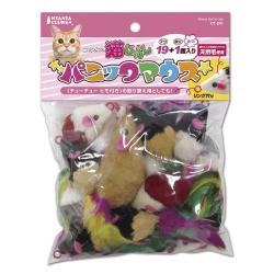 日本Marukan 慌張小鼠19+1逗貓玩具(CT-241)