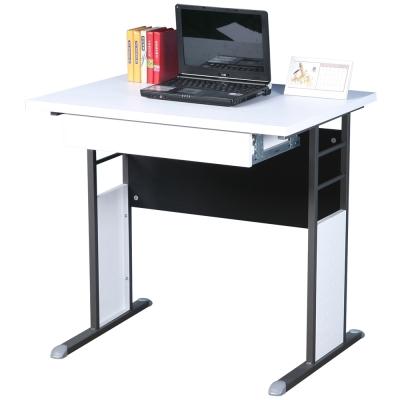 Homelike 巧思辦公桌 炫灰系列-白色加厚桌面80cm(附抽屜)