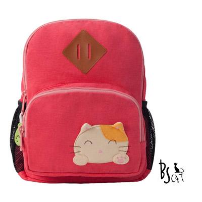 ABS貝斯貓 可愛貓咪手工拼布小型後背包 (粉) 88-211