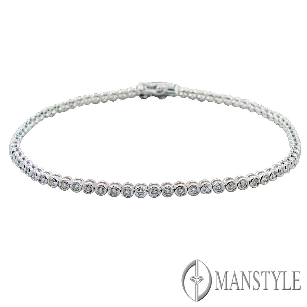 MANSTYLE 幻境南非天然鑽石手鍊