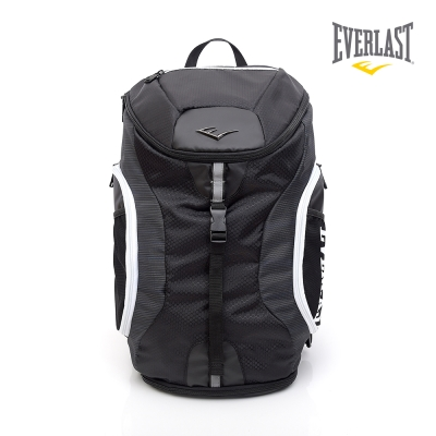 EVERLAST 拳擊運動品牌-雙肩後背包-黑/白