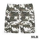 MLB-紐約洋基隊多口袋迷彩休閒印花短褲-深綠 (男)