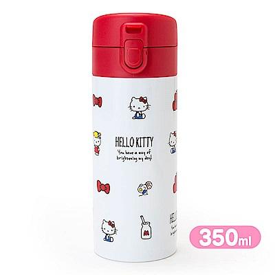 Sanrio  HELLO KITTY輕量保溫保冷不鏽鋼隨手瓶350ml(元氣牛奶)
