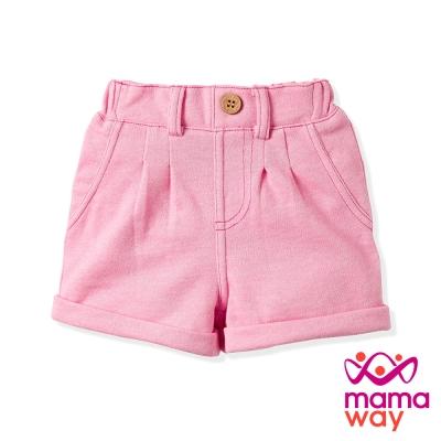 【Mamaway】Baby 柔軟休閒短褲(淺粉紅)