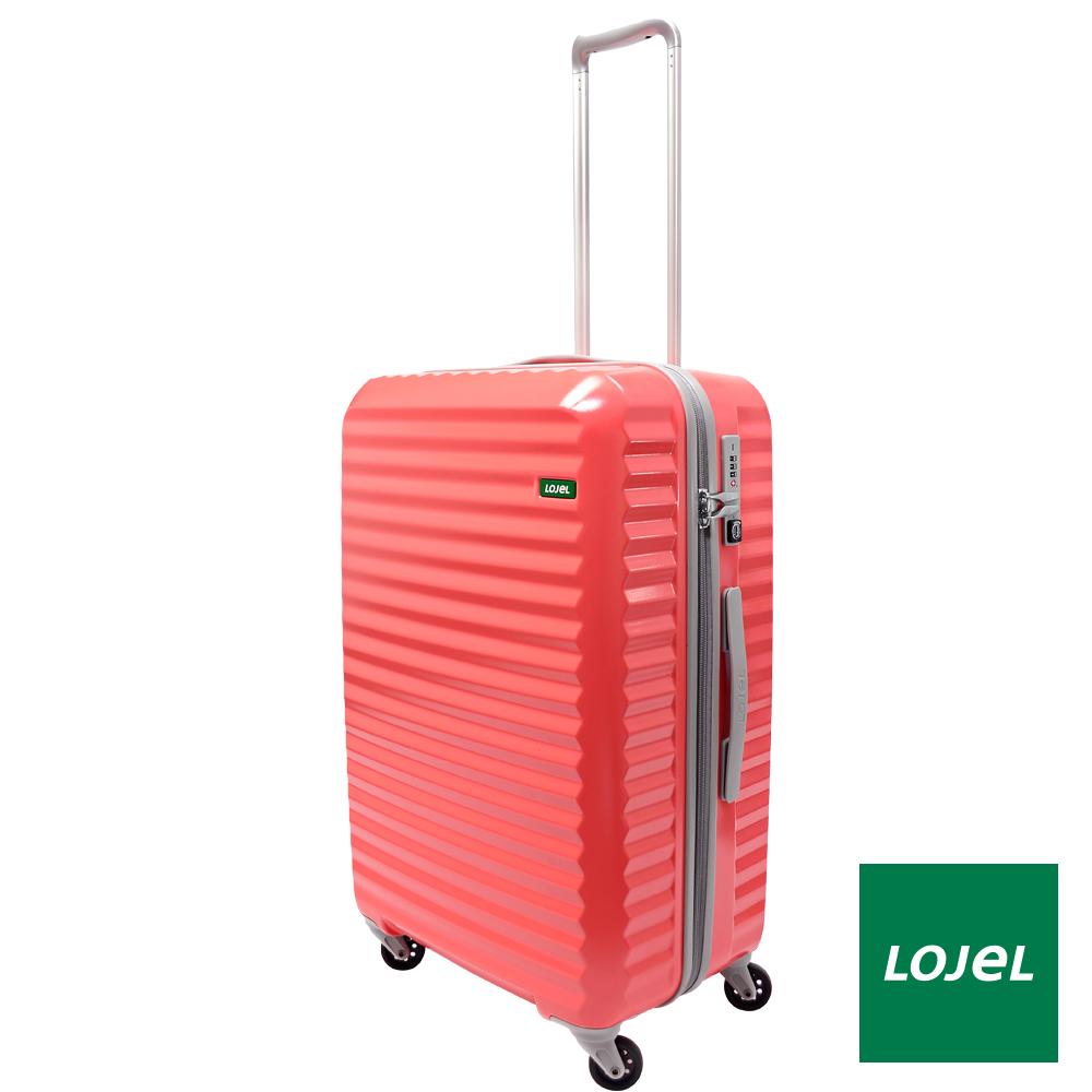 日本LOJEL 25吋 PC拉鍊拉桿 輕行李箱/ 旅行-馬卡龍粉