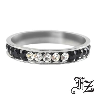 【FZ】晝夜之心晶鑽白鋼戒指(戒圍可選)