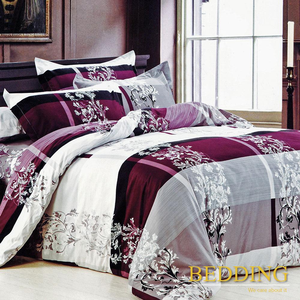 BEDDING 活性印染 雙人四件式薄床包舖棉兩用被套組 賽尚印象
