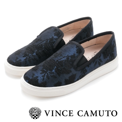Vince Camuto 百搭時髦素色圖騰懶人便鞋-寶籃色