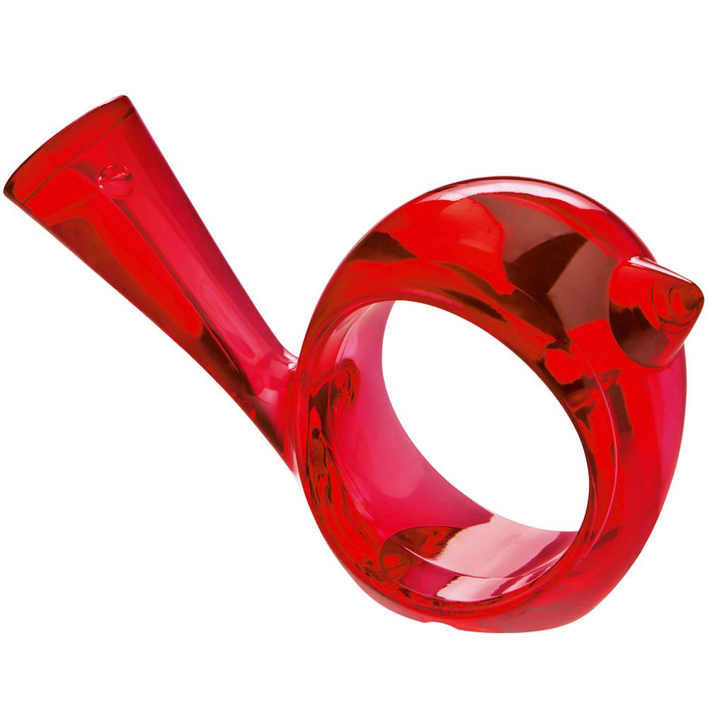 KOZIOL Pi鳥型餐巾環(透紅)