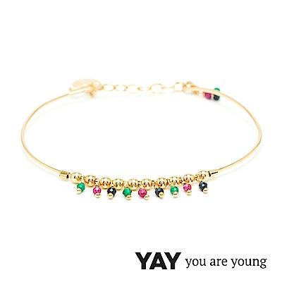 YAY You Are Young 法國品牌 Frida 寶石花束手環 彩鑽X星辰豆豆