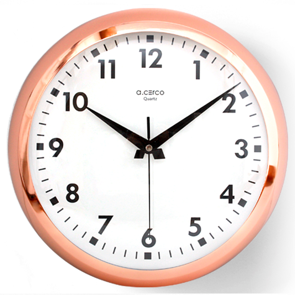 a.cerco  簡約大鐵掛鐘-Eyeball clock Large-玫瑰金