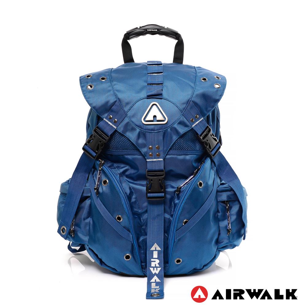 AIRWALK - Life is color 繽紛生活三叉扣彩色後背包 - 每日藍