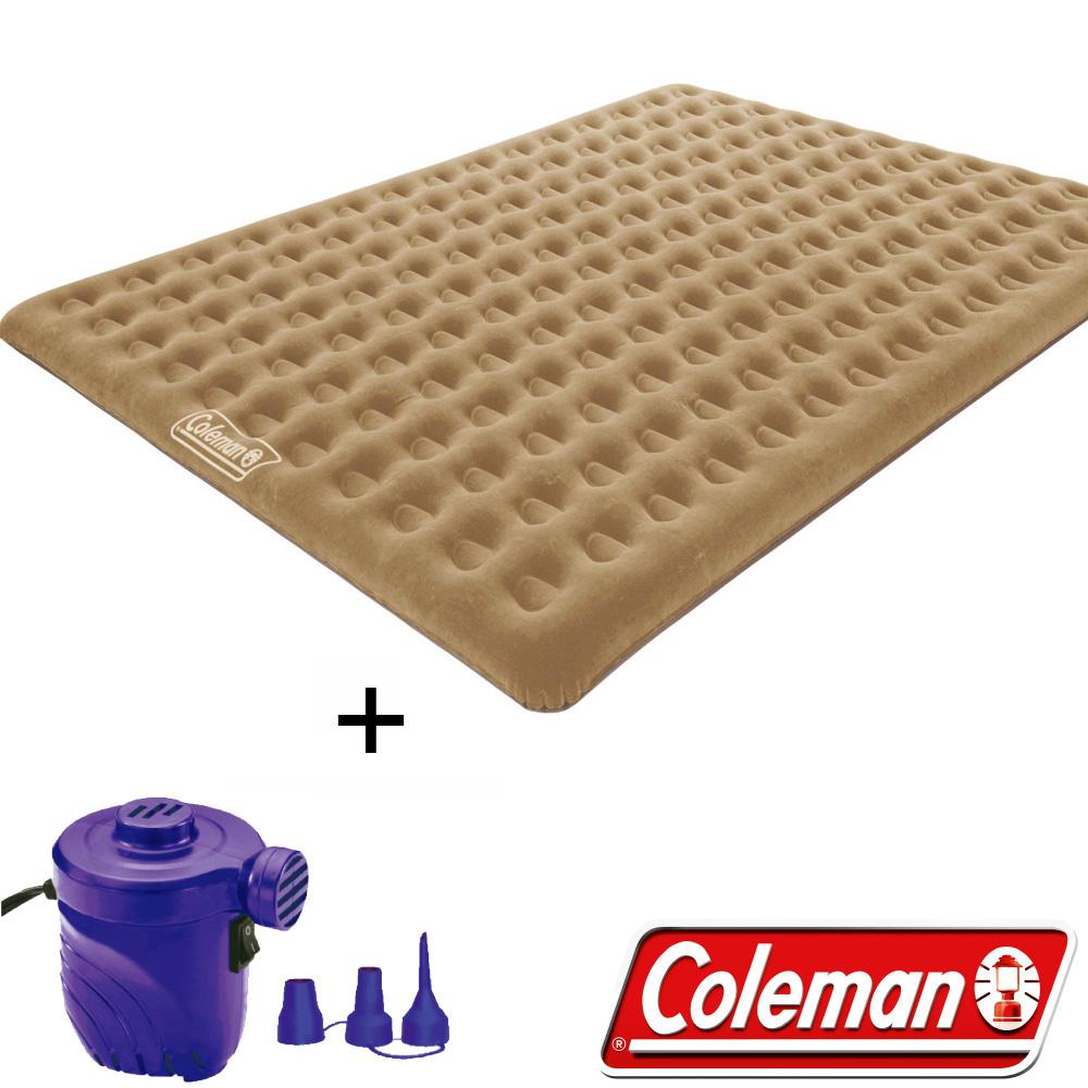 Coleman N608+17662 充氣睡墊+打氣機  300露營帳篷用充氣床