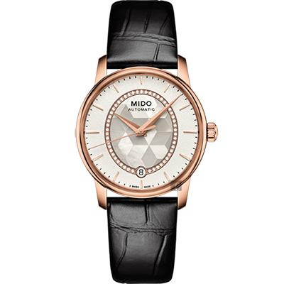 MIDO美度 Baroncelli 永恆系列晶燦鑲鑽女仕腕錶-34mm