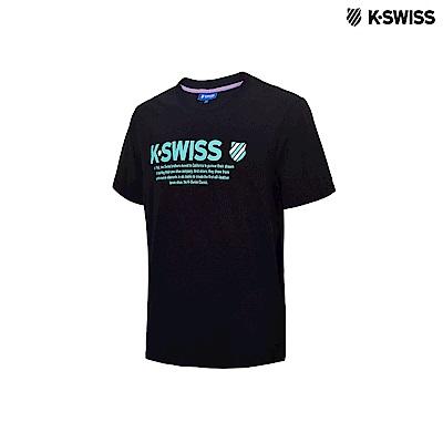 K-Swiss KS Message Tee印花短袖T恤-男-黑