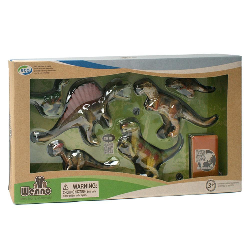 Wenno動物模型恐龍系列肉食性恐龍6入WCD06001
