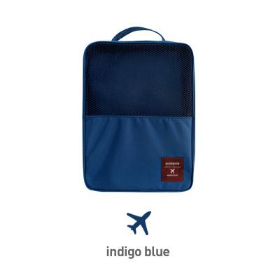 iSFun 旅行配備 三層防水收納鞋袋 四色