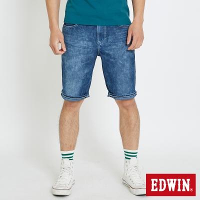 EDWIN 迦績褲JERSEYS雪花短褲-男-石洗綠