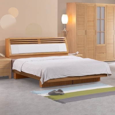 Homelike-春沐日式床台組-含床頭箱-雙人加大6尺