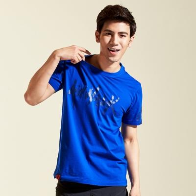 【AIRWALK】個性 LOGO棉圓領T恤-寶藍