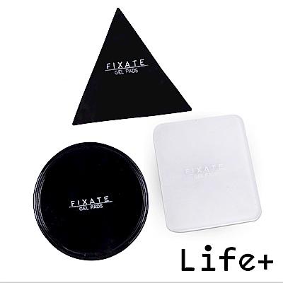 Life Plus 無痕隨行矽膠貼墊/萬用貼/隨手貼 (黑色-三角+圓形+透明-方形)