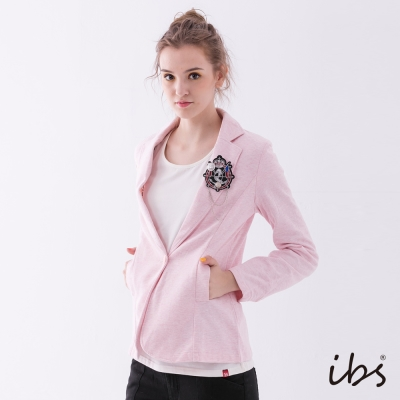IBS 學院風西裝外套-淺粉紅-女