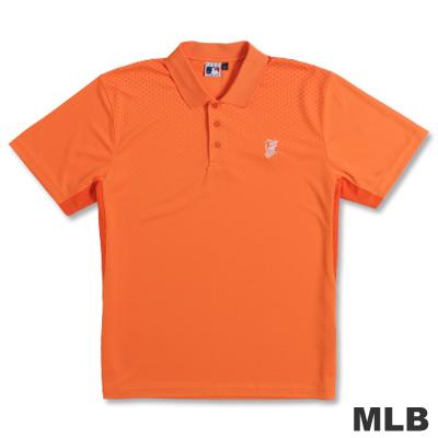 MLB-巴爾的摩金鶯隊開釦式POLO衫-桔(男)
