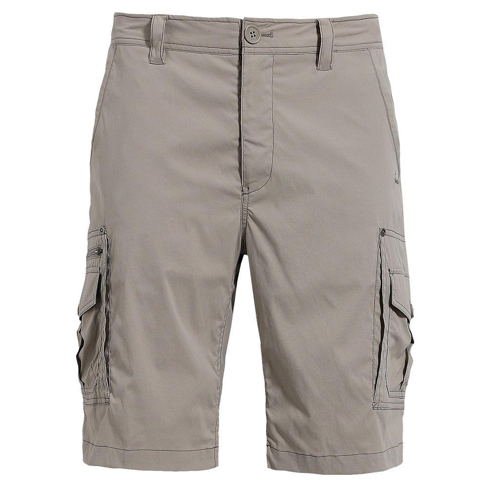 【hilltop山頂鳥】男款抗UV吸濕快乾彈性短褲S09M57-卡其
