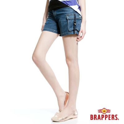 BRAPPERS-Boy-Friend-Jeans系列-女用天絲棉熱褲-藍
