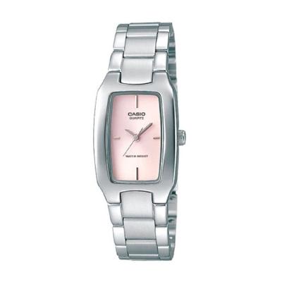 CASIO 清新時尚酒桶型指針腕錶(LTP-1165A-4C)粉紅面/22mm