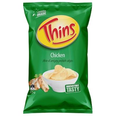 澳洲THINS 洋芋片雞汁口味 (175g)