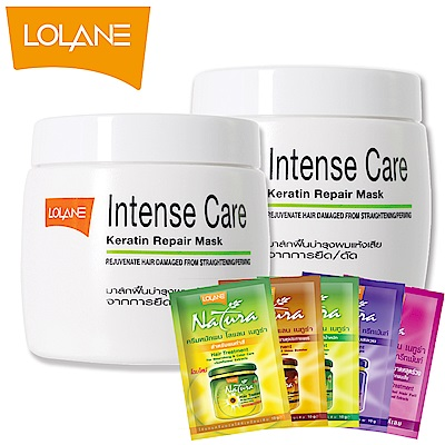 LOLANE蘿瀾 高效修護角蛋白髮膜-燙髮及直髮燙適用(200g)超值2入組贈10g體驗包