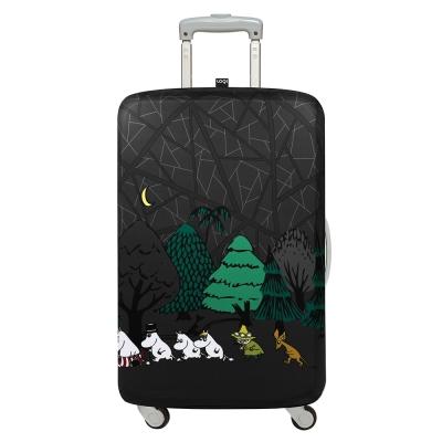 LOQI 行李箱保護套-Moomin森林(L號 適用28吋以上行李箱)