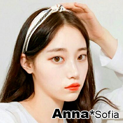 AnnaSofia 黥騰線紋中央結 韓式髮箍(米底系)