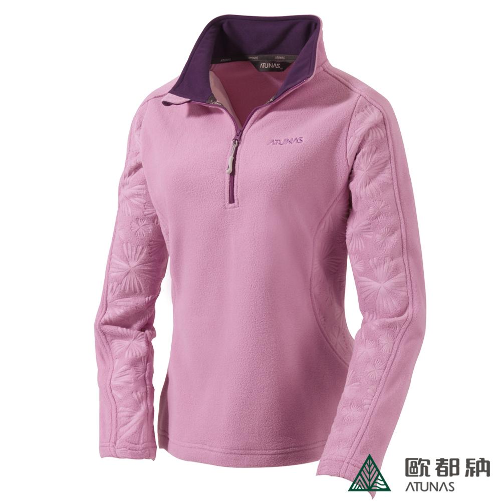 歐都納 A-P1241W 厚Fleece長袖保暖POLO衫(女款)