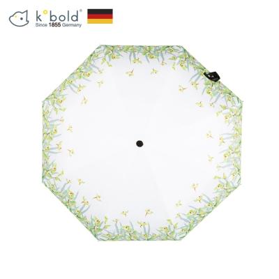 德國kobold酷波德 淺夏時光 超輕巧抗UV防曬三折傘-清雅綠