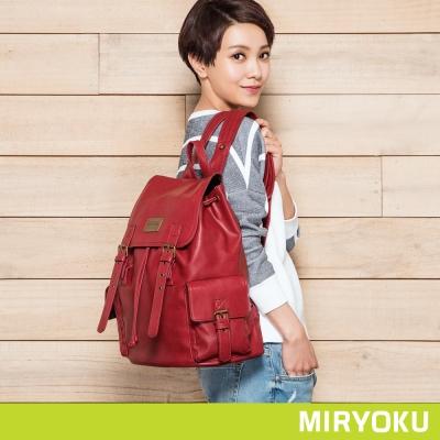 MIRYOKU清新簡約系列-率真風格雙口袋後揹包