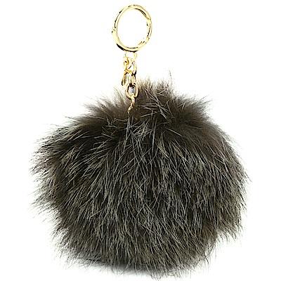 Michael Kors Fur Pom Pom 毛球吊飾/鑰匙圈(墨綠)