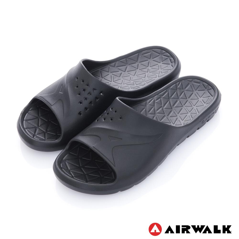 【AIRWALK】 輕盈柔軟AJ拖鞋-黑色
