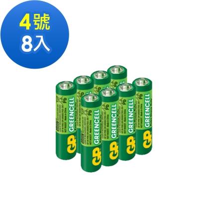 GP超霸 4號 綠能特級碳鋅電池8入