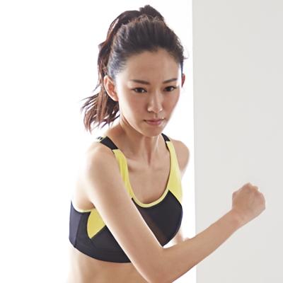 蕾黛絲-動氧Bra-吸震背心-CE罩杯運動內衣(熱感黑)