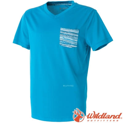 Wildland 荒野 0A51616-77中藍 男 V領抗菌抗UV上衣