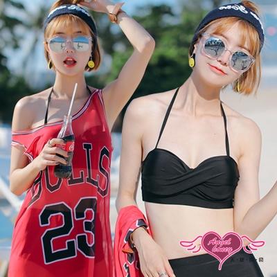 泳衣 活力潮流 三件式鋼圈比基尼泳裝(黑紅M~XL)AngelHoney天使霓裳